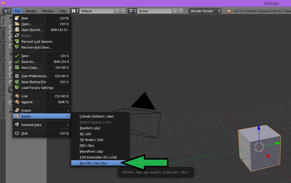 blender import ascii fbx to unity 06.png